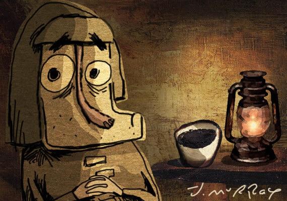 Fisherman and lantern